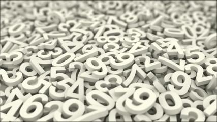 Numbers.Seamless loop