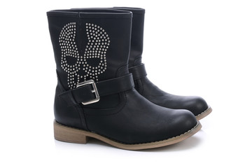 Boots with decorative skull