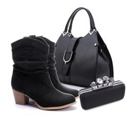 Black women shoes and handbag