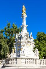 the plague column in Nitra, Slovakia