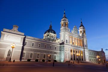 Santa Maria la Real de La Almudena- Cathedral in Madrid, Spain