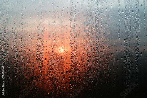 Drops on the glass - 77054402