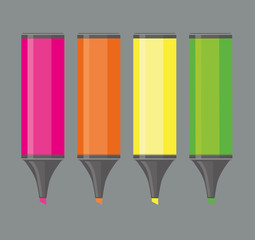 Four highlighters