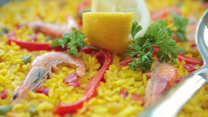Spanish national dish of rice