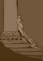 Oriental princess vintage