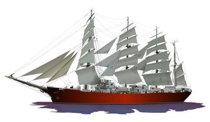 帆船(赤)