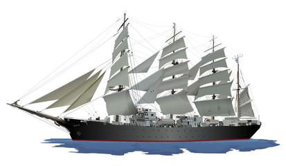 帆船(黒)