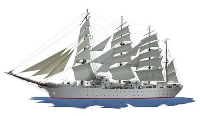 帆船(白)