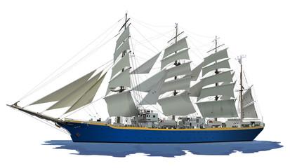 帆船(ブルー)