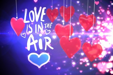 Composite image of love is in the air