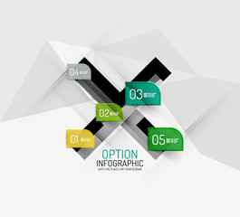 Modern abstract business geometric infographics