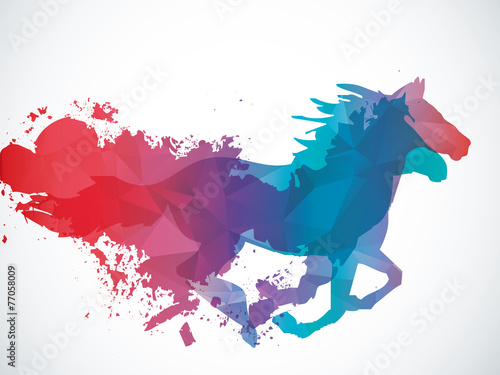 Abstract horse - 77058009