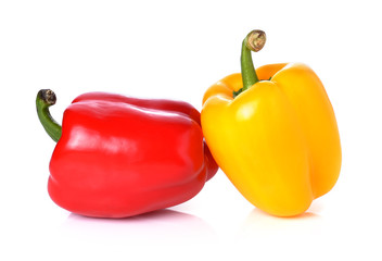 Fresh peppers isolated on white background