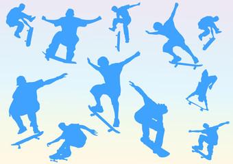 skateboarders blu