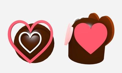 heart-shaped chocolate 1
