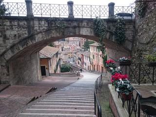 Perugia scalette acquedotto