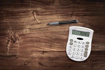 calculator desk money