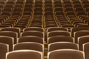 Rows of seats in the auditorium