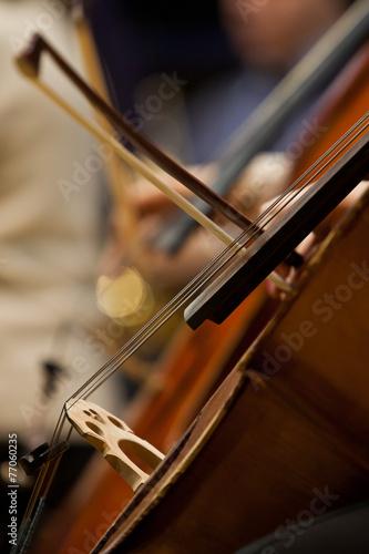 Leinwandbild Motiv Fragment Cello closeup