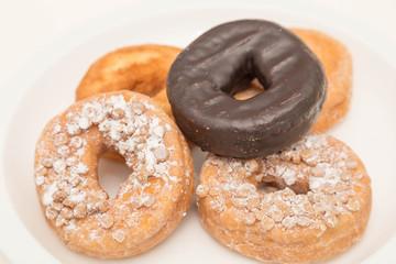 Donut Variety on White Plate