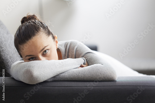 Stressed young woman - 77060838