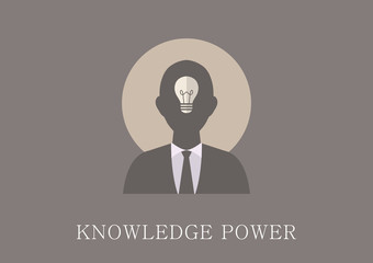 Modern and classic design knowledge power concept