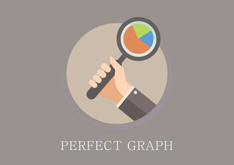 Modern and classic design perfect graph concept flat icon