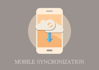 Modern and classic design mobile syncronization flat icon