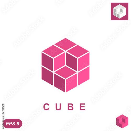 Cube isomatric logo concept