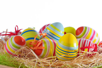 Colorful easter eggs isolated