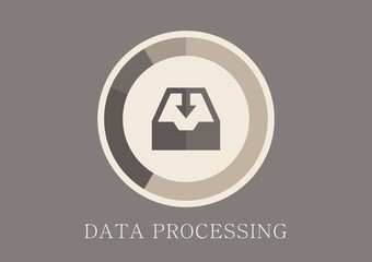Modern and classic design data processing concept flat icon
