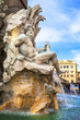 Rome of Bernini'  -foutain in piazza Navona - 77061847