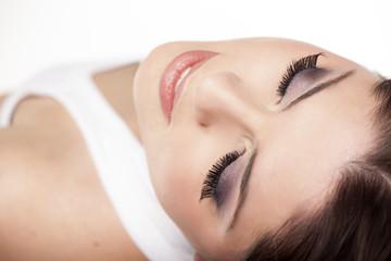 make up concept - false eyelashes