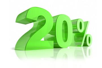 20 % Grün