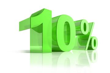 10 % Grün