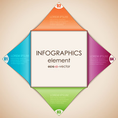 Infographics diamond