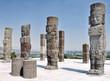 Toltec Warriors columns at the Pyramid of Quetzalcoatl in Tula - 77063049