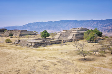 Aerial view of Monte Alban Ruins, Oaxaca