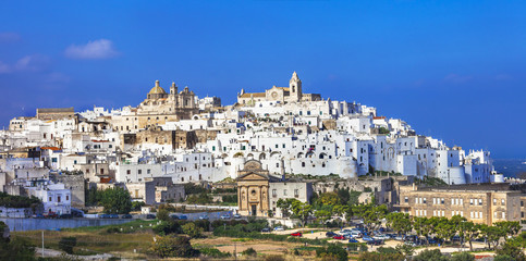 Ostuni - beautiful white town in Puglia, Italy