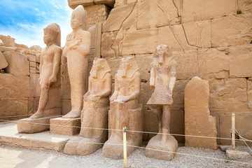 Statues in Karnak Temple. Luxor, Egypt
