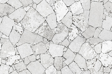White stone wall detailed seamless background texture