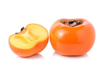 persimmon on white background
