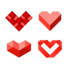Heart shaped symbols