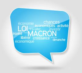Bulle Nuage de mots : Loi Macron