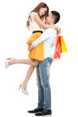 Carrying girlfriend