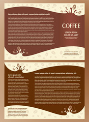 brochure coffee element design