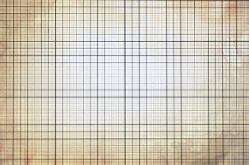 Old vintage colorless dirty graph paper