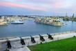 Fort Sant Angelo and guns battery of Valletta. Malta