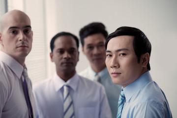 Serous Vietnamese businessman