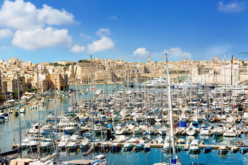 Valletta. Malta. View of town and harbor